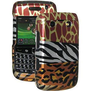 AMZER Limited Edition Multi-Animal Print Snap On Hard Case for BlackBerry Bold 9700