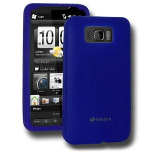 AMZER Silicone Skin Jelly Case for HTC HD2 - Blue