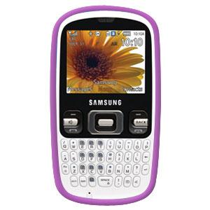 AMZER® Silicone Skin Jelly Case - Purple for Samsung Freeform R350