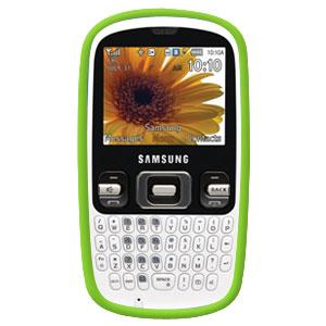 AMZER® Silicone Skin Jelly Case - Green for Samsung Freeform R350