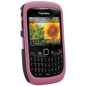Vertex 2-Piece Hard & Soft Shell Combo - Pink for BlackBerry Curve 3G 9300