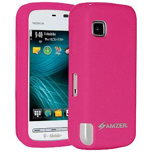 AMZER Silicone Skin Jelly Case for Nokia Nuron 5230 - Hot Pink