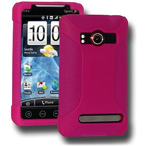 AMZER® Silicone Skin Jelly Case - Hot Pink for HTC EVO 4G