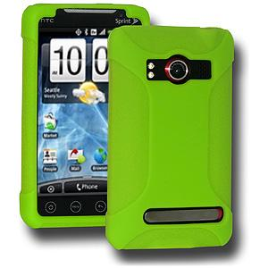 AMZER® Silicone Skin Jelly Case - Green for HTC EVO 4G
