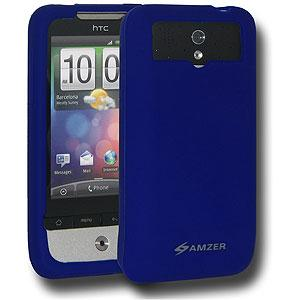 AMZER Silicone Skin Jelly Case for HTC Legend - Blue