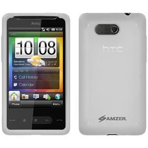 AMZER Silicone Skin Jelly Case for HTC HD Mini - Lilly White