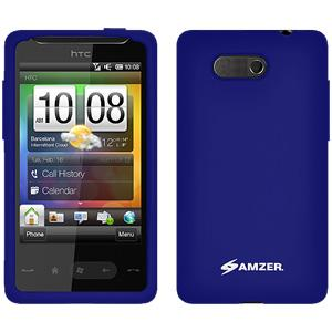 AMZER Silicone Skin Jelly Case for HTC HD Mini - Blue