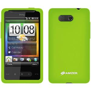 AMZER Silicone Skin Jelly Case for HTC HD Mini - Green