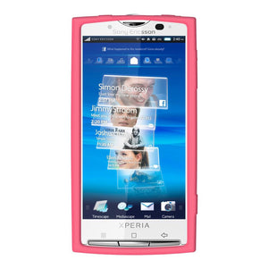 AMZER Silicone Skin Jelly Case for Sony Ericsson Xperia X10 -Baby Pink