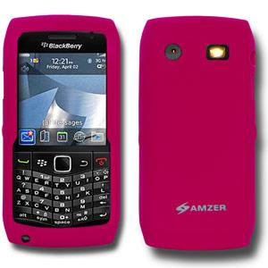 AMZER Silicone Skin Jelly Case for Blackberry Pearl 9100 - Hot Pink