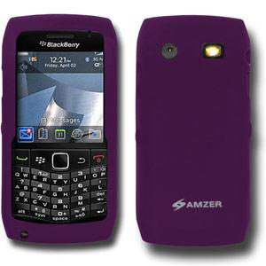 AMZER Silicone Skin Jelly Case for Blackberry Pearl 9100 - Purple