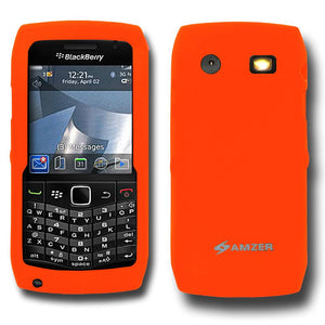 AMZER Silicone Skin Jelly Case for Blackberry Pearl 9100 - Orange