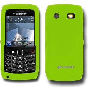 AMZER Silicone Skin Jelly Case for Blackberry Pearl 9100 - Green