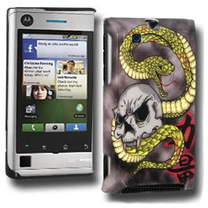 Snake & Skull Click On Case for Motorola DEVOUR A555