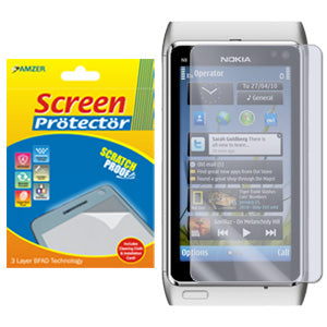 Amzer Super Clear Screen Protector with Cleaning Cloth for Nokia N8