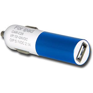 USB Car Charger - Blue