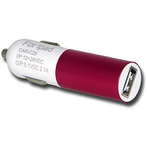 USB Car Charger - Hot Pink