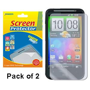 AMZER Kristal Clear Screen Protector for HTC Desire HD  - Pack of 2