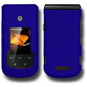 Rubberized Protector Case - Blue for Motorola Bali