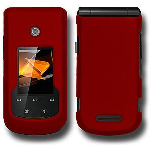 Rubberized Protector Case - Red for Motorola Bali