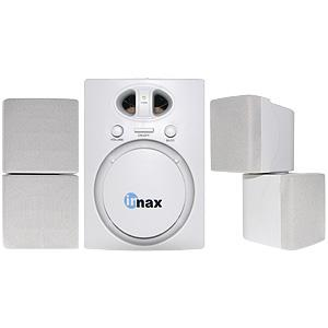 Powered Multimedia Speakers with Mini Subwoofer - White