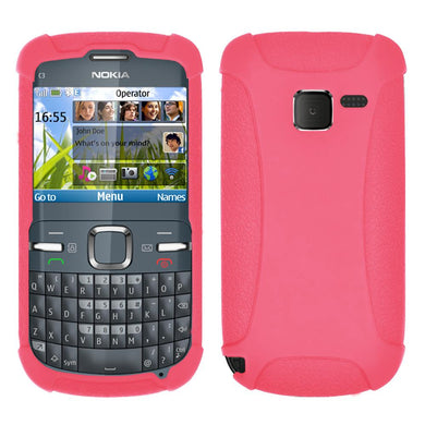 AMZER Silicone Skin Jelly Case for Nokia C3 - Baby Pink