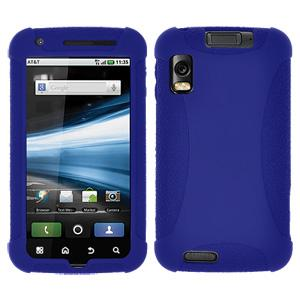 AMZER Silicone Skin Jelly Case for Motorola ATRIX 4G MB860 - Blue