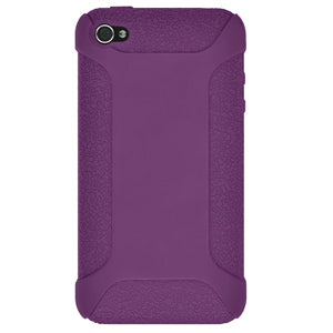 AMZER Shockproof Rugged Silicone Skin Jelly Case for iPhone 4 - Purple
