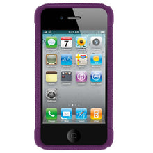 Load image into Gallery viewer, AMZER Shockproof Rugged Silicone Skin Jelly Case for iPhone 4 - Purple