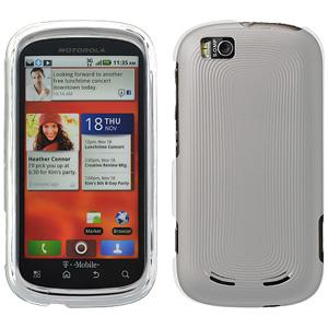 Rubberized Protector Case - Clear for Motorola CLIQ 2 MB611