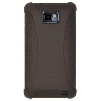 AMZER Silicone Skin Jelly Case for Samsung GALAXY S II GT-I9100 - Grey