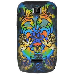 Rubberized Protector Case - Rainbow Lion Sculpture for Motorola THEORY