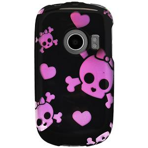 Protector Case - Cute Skulls & Hearts for Huawei M835