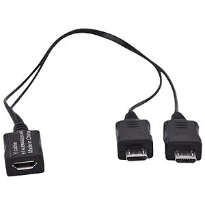 Samsung Micro USB Dual Male Y Adapter Splitter for Samsung Galaxy S3 and Other Micro USB Devices - GB