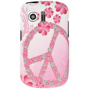Rubberized Protector Case - Peace & Love for Huawei Pillar M615