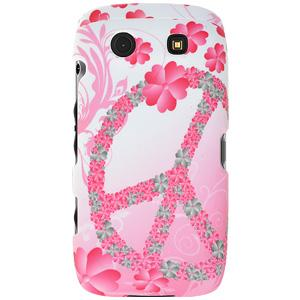 Rubberized Protector Case - Peace & Love for BlackBerry Torch 9850
