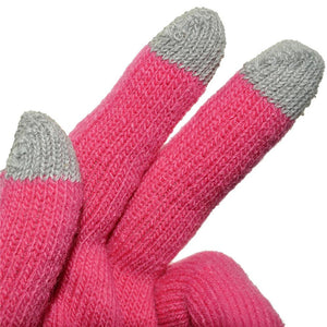 Amzer Capacitive Touch Screen Knit Gloves-Pink