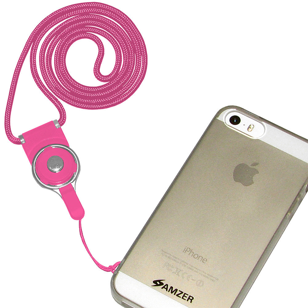 AMZER Durable Detachable Cell Phone Neck Lanyard - Hot Pink