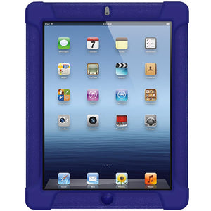AMZER Shockproof Rugged Silicone Skin Jelly Case for iPad 3 - Blue