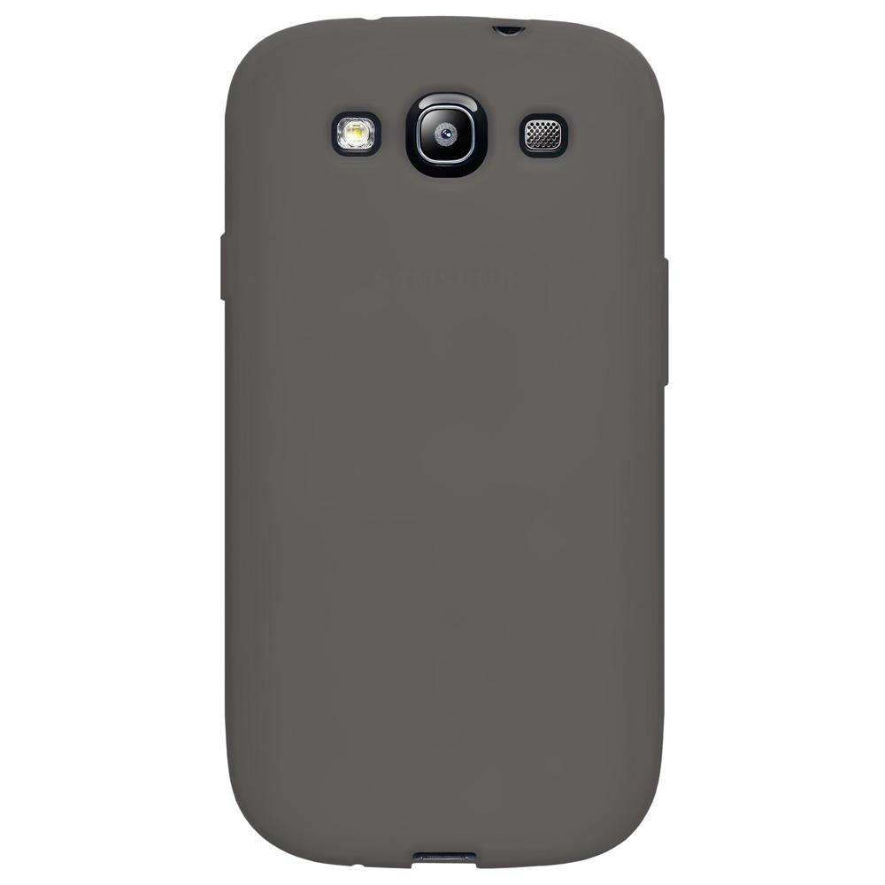 AMZER Silicone Skin Jelly Case for Samsung GALAXY S III GT-I9300 - Grey