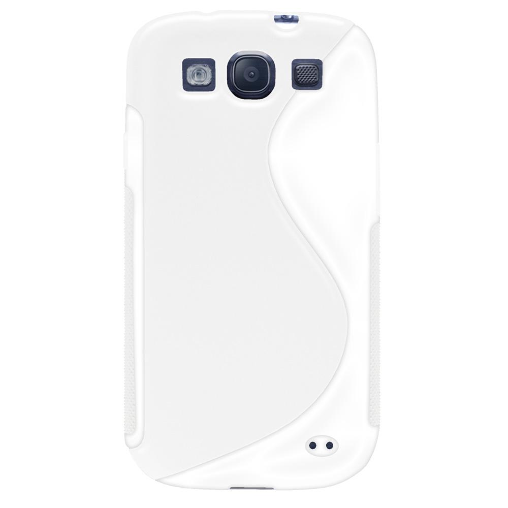 AMZER TPU Hybrid Case - White for Samsung GALAXY S III GT-I9300