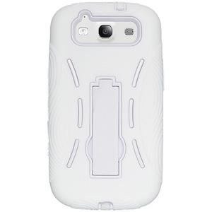 Silicone-Polycarbonate Robot Case - White for Samsung GALAXY S III GT-I9300
