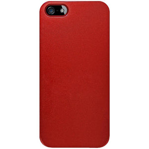 AMZER 1 MM Super Slim Simple Case with Screen Protector - Red for iPhone 5
