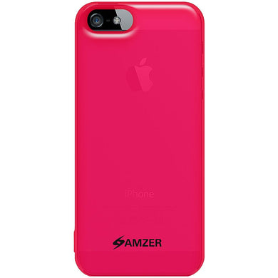AMZER Soft Gel TPU Gloss Skin Case - Translucent Hot Pink for iPhone 5