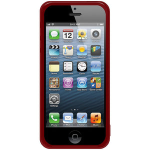 AMZER Soft Gel TPU Gloss Skin Case - Translucent Red for iPhone 5