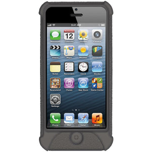 AMZER Shockproof Rugged Silicone Skin Jelly Case for iPhone 5 - Grey