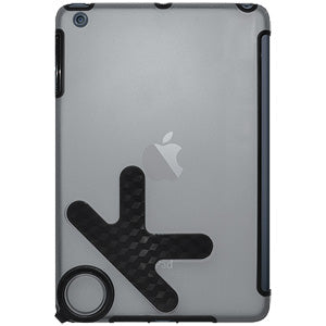 Amzer TPU PolyCarbonate Snap On Hybrid Case - Black/ Clear for Apple iPad mini