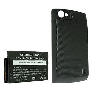 2040 mAh Li-Ion Extended Battery with Black Battery Door for LG Optimus M Plus MS695