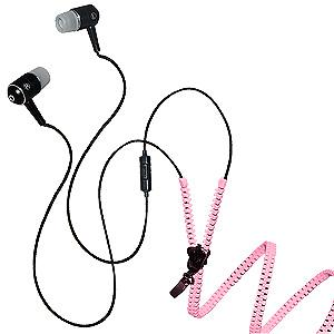 Zipper Stereo Y-Buds Headset - Pink