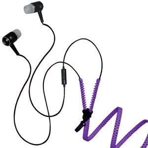 Zipper Stereo Y-Buds Headset - Purple